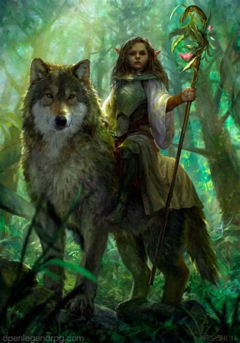 Gamis Wolvis Greeny forest princess by randy vargas 2d cgsociety druid 2d princess