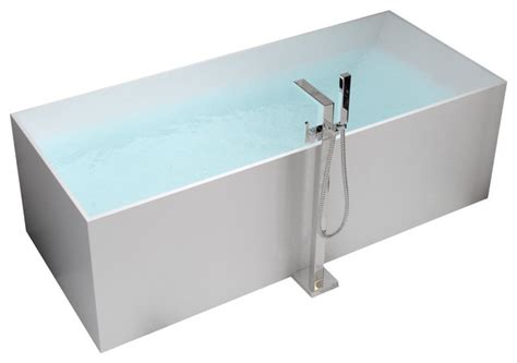 Stand Bathtub by Adm White Stand Alone Solid Surface Resin Bathtub