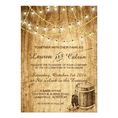 Wedding Invitations Country country wedding invitation with cowboy boots zazzle