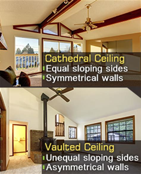 what is a vaulted ceiling difference between cathedral and vaulted ceilings