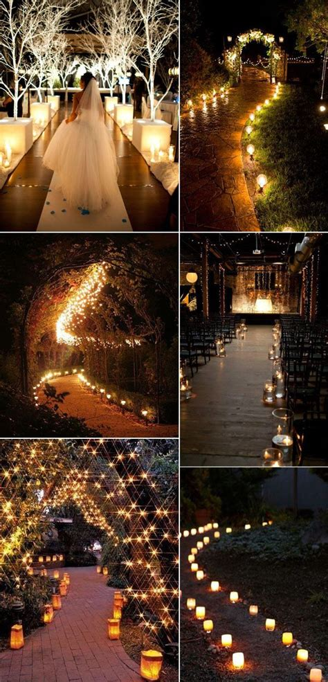 Wedding Aisle Lights by 3480 Best Candle Lighting Decor Ideas Images On