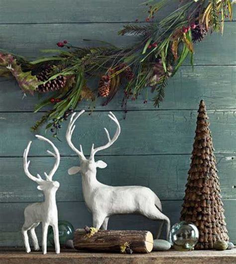 christmas decorations with deer head pic 15 winter decorating ideas inviting deer into modern home interiors