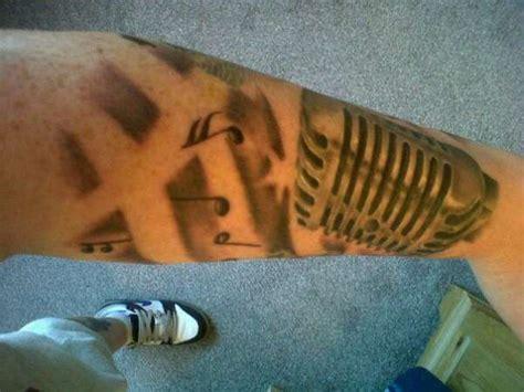 microphone wings tattoo microphone tattoo
