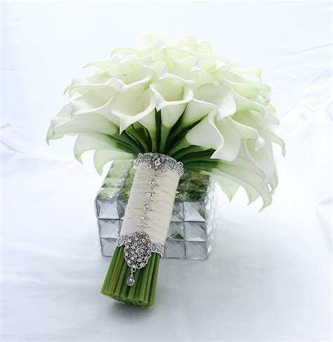 Wedding Bouquet Calla Lilies by Bridal Bouquet Real Touch White Mini Calla Wedding