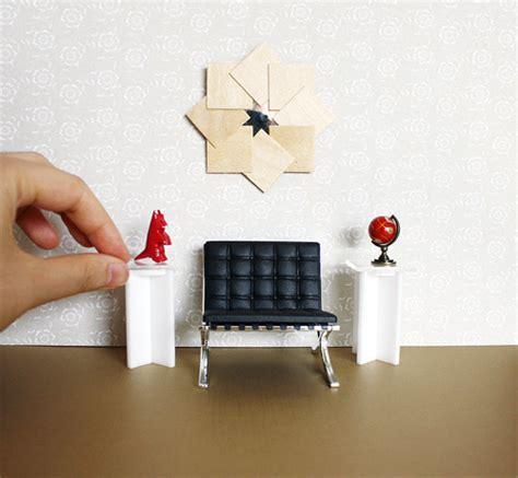 miniature modern furniture the new black white modern dollhouse acrylic furniture