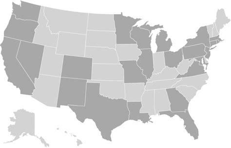 america map gray printable map of usa free printable maps