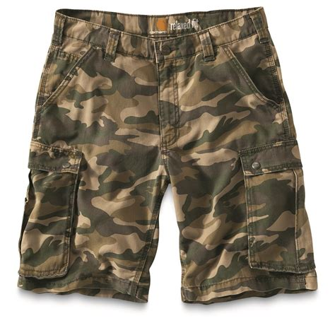 camo shorts carhartt men s rugged cargo camo shorts 677684 shorts