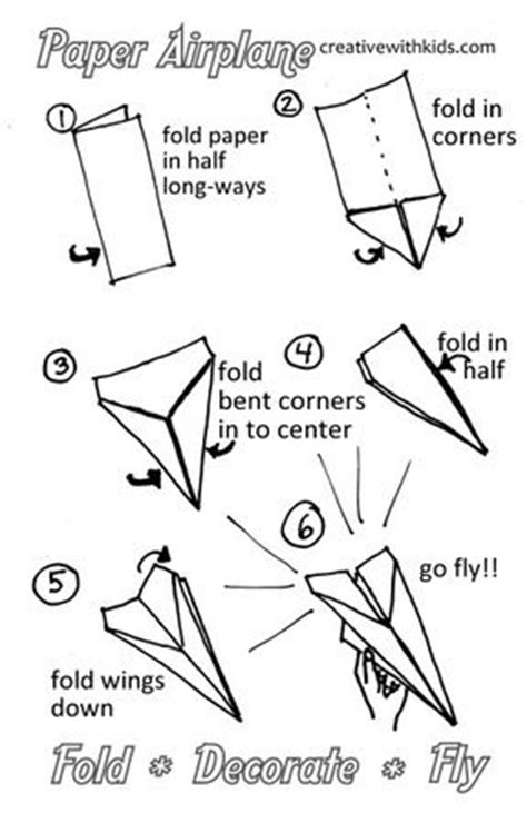 How To Fold A Paper Air Plane - 25 best ideas about paper planes on make a
