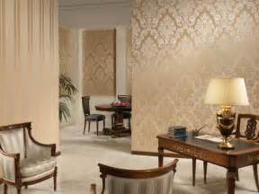 Wallpaper Livingroom by Gold Color Wallpaper In Living Room Olpos Design