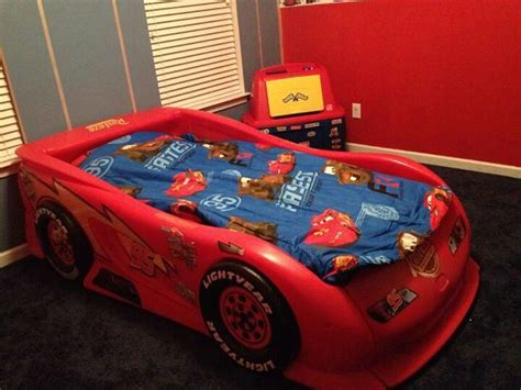 mcqueen bed lightning mcqueen racecar bed joshua s room pinterest