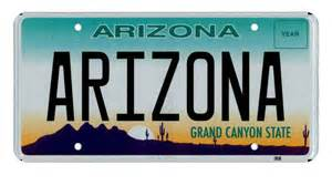what turns those arizona license plates gray