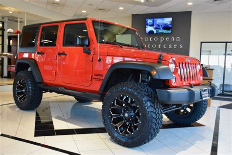 2016 jeep sport lifted 2016 jeep wrangler unlimited custom lifted sport for sale