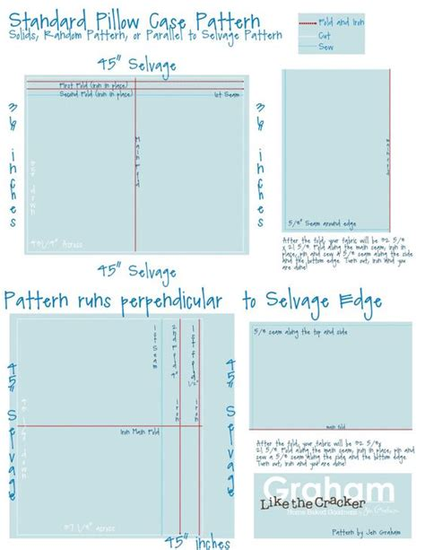 sewing pattern pillowcase pinterest the world s catalog of ideas
