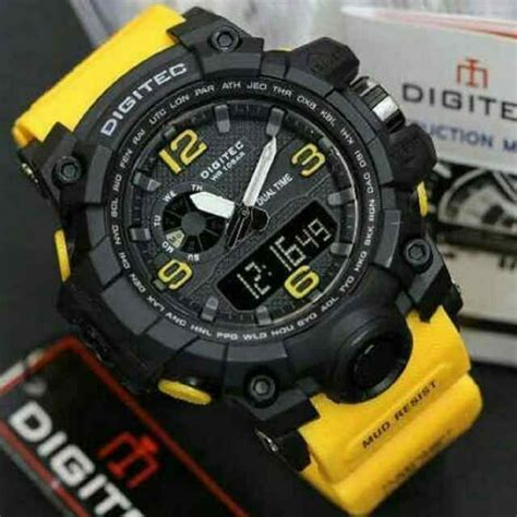 Jam Tangan Digitec Kuning jam tangan pria digitec t2003 rubber kuning outletryan