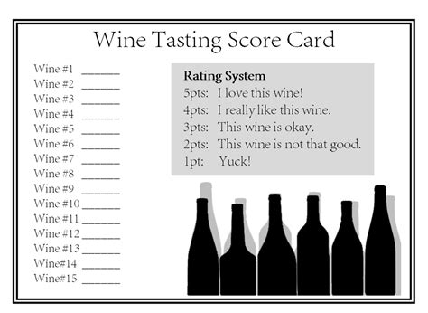 wine tasting cards templates city to south december 2014