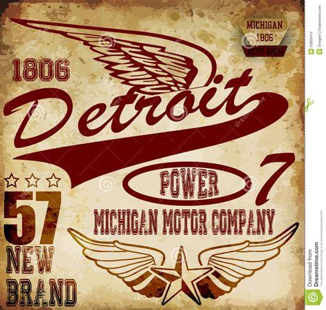 Free Garage Plans And Designs vintage man t shirt graphic design about detroit stock