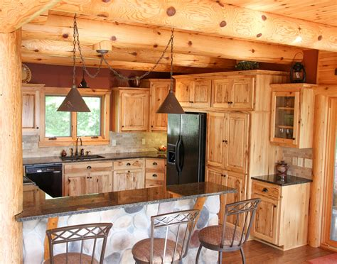 Log Home Kitchen Cabinets lake home kitchen cook mn franklin builders