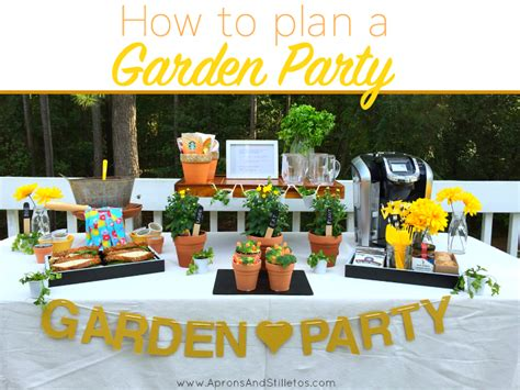 how to plan a backyard party garden themed party how to plan and decorate