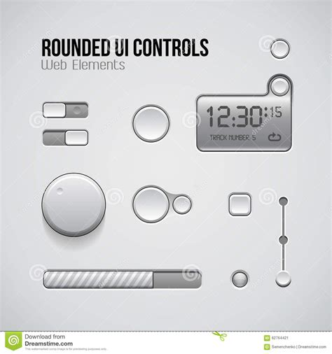 ui controller pattern web ui controls design elements buttons switchers on