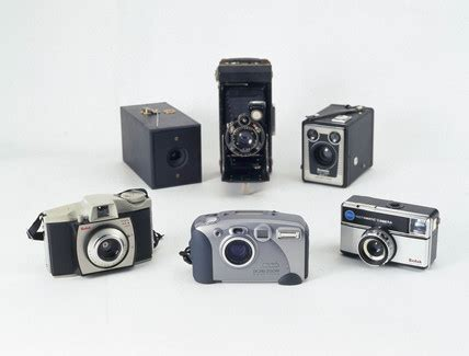 a selection of kodak cameras, 1888 1999. at science and