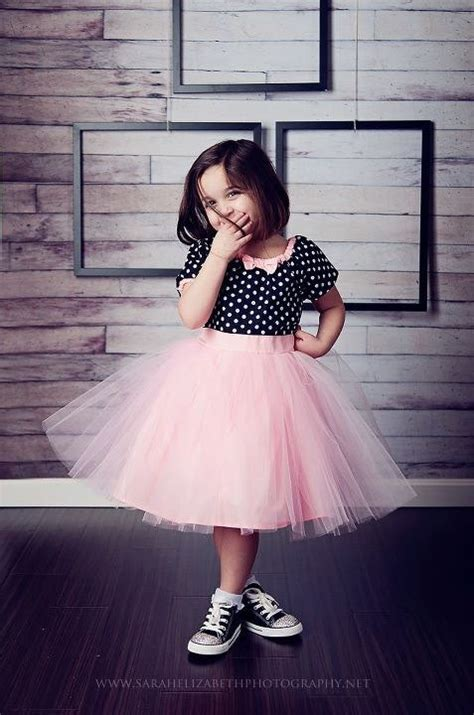 Dress Tutu Polka Dress Baby tutu dress in black polka dot pink tulle skirt for baby