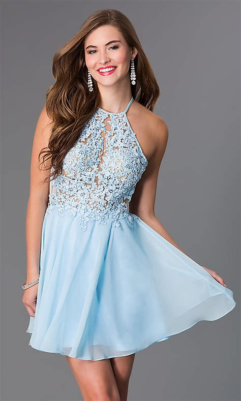 light blue dresses for light blue open back dress promgirl