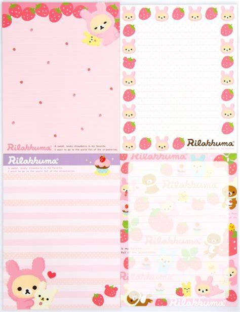 rilakkuma letter set strawberry from japan letter