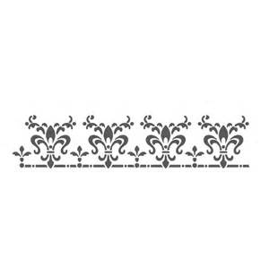 Wall Stencil Templates Free by Wall Border Stencils Pattern Laetitia Reusable Template