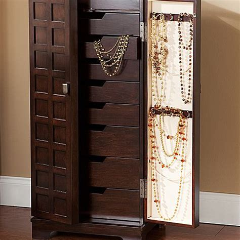 cheval mirror jewelry armoire jcpenney walnut finish panel front jewelry armoire jcpenney