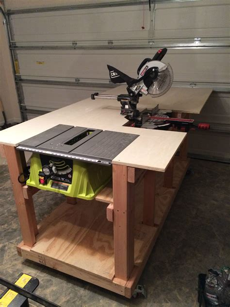 garage work table diy workbench arbejdsb 230 nke hobbyarbejde og g 248 r det selv