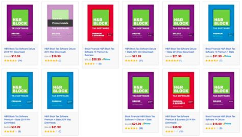 Amazon Gold Box: up 51% off select H&R Block tax software ... H And R Block 2015 Tax Software Deals