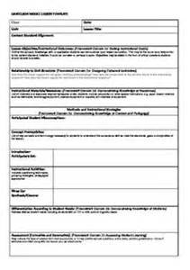 Itip Lesson Plan Template by Teaching On Physical Education Binder