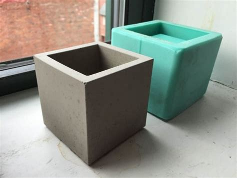Cement Planter Molds by Cube Planter Mold Silicone Mold 3 Inch Size Diy