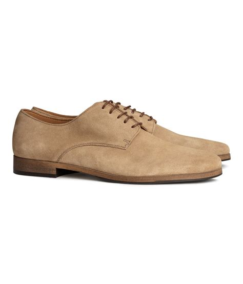 shoes h m h m suede derby shoes in for lyst