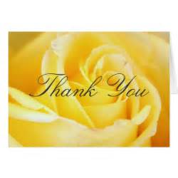 yellow thank you cards zazzle