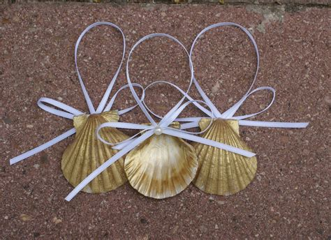 seashell ornaments christmas ornaments gold sea by justshellin