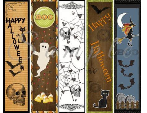 printable bookmarks customizable halloween bookmarks party favor printable custom digital