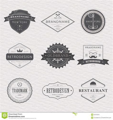 brand name tag design brand and logo design old tavern badge stock vector