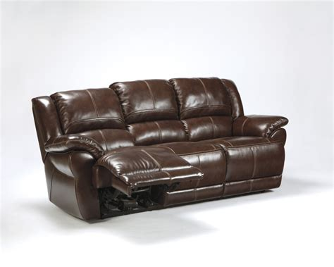 furniture reclining sofa signature design by fernley leather reclining