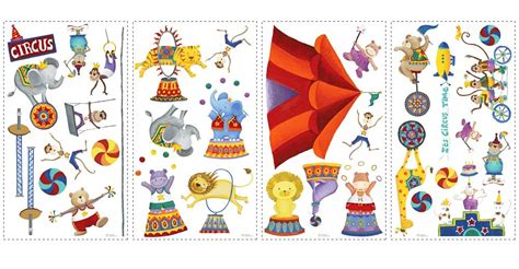 bilder kinderzimmer zirkus 33 wandsticker wandtattoo zirkus zelt tiere kinderzimmer