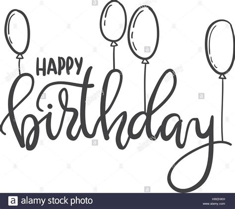 imagenes para cumpleaños blanco y negro feliz cumplea 241 os hand lettering tipograf 237 a plantilla
