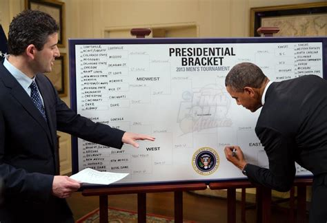 president obamas bracket for the 2013 ncaa mens it s official obama submits brackets before submitting a