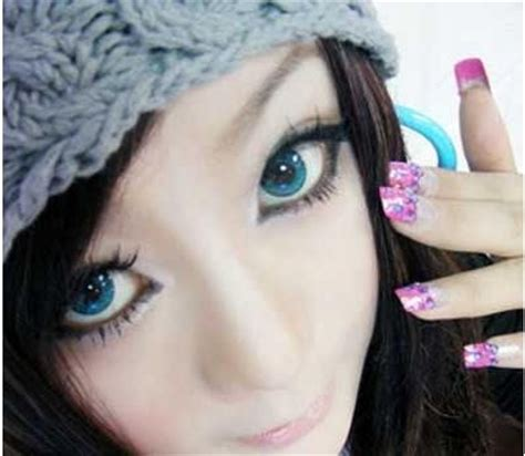 geo animation / anime blue colored contact lenses