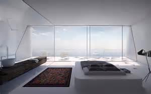 een designwoning in de vorm van een prisma op het eiland