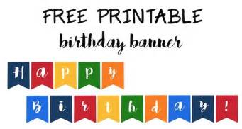 Birthday Banner Design Templates by Free Printable Happy Birthday Banner Templates Best