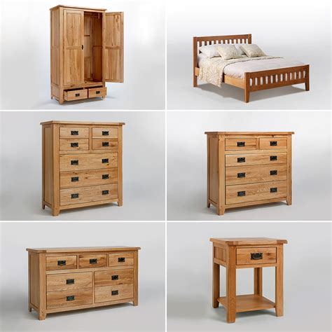 Closet Chest Of Drawers Furniture by Rustic Oak Chest Of Drawers Solid Wardrobe Bedside Table