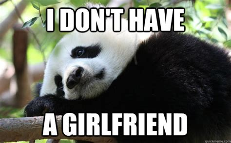 Memes De Pandas - i dont have a girlfriend sad panda