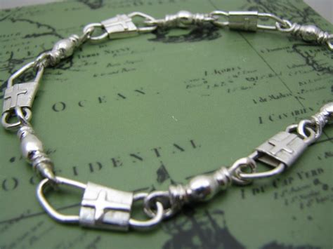 acts sterling silver fishers of bracelet with