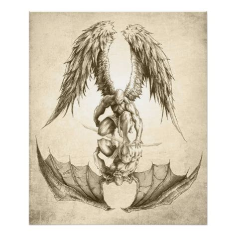 angels and demons reflection poster zazzle