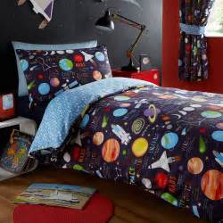 kids club space ship planets solar system duvet cover